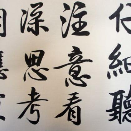 Chinese Calligraphy Beginner Course Public Calligraphy