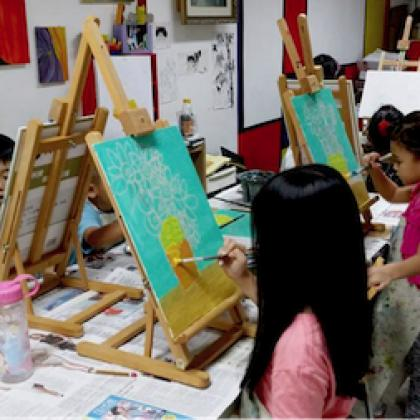 Leisure Painting Workshop for Kids (ages 4 to 12)