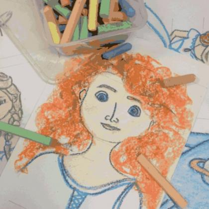 Brave: Movie Character Illustration Workshop for Kids (ages 4 to 12)
