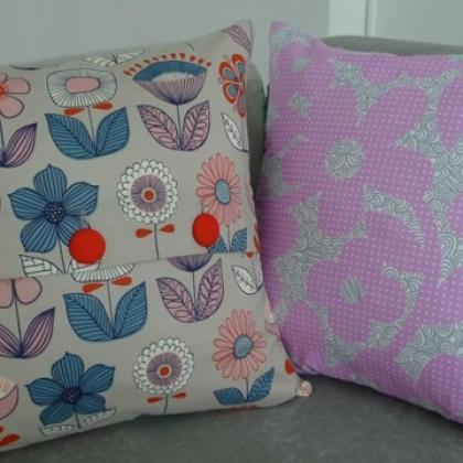 Butt'on Up Cushion Cover: Beginner Sewing