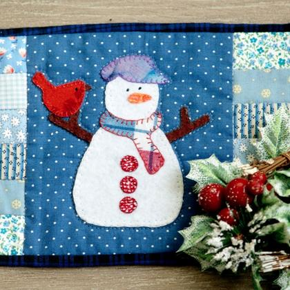 Snowman Mug Rug Workshop