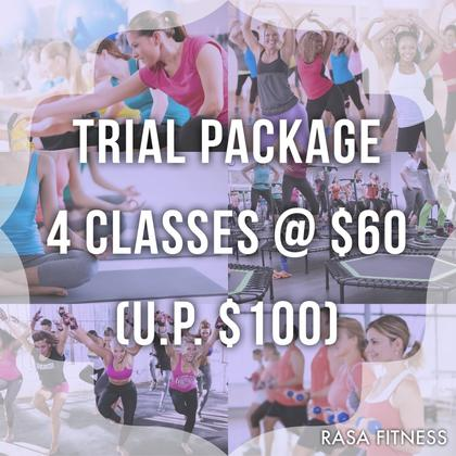 Fitness Class Trial Package - 4 Classes $60