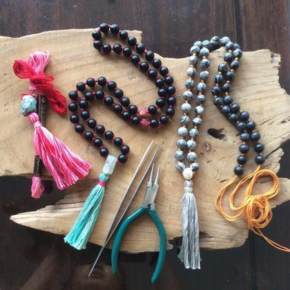 Pearl / Bead Knotting Tassel Necklace (Mala Making) - PRIVATE LESSON