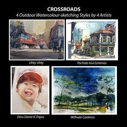 CROSSROADS - 4 Outdoor Watercolour-sketching Styles by 4 Artists