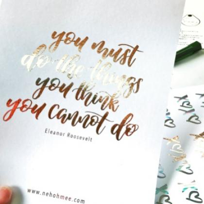 Foiling + Brush pen Calligraphy Workshop