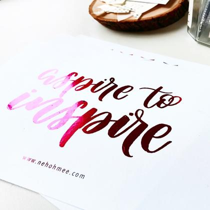 Foiling + Watercolour Brush Calligraphy