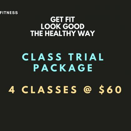 Class Trial Package – 4 classes