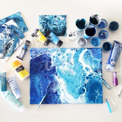 Create Stunning Abstract Art with Acrylic Pour