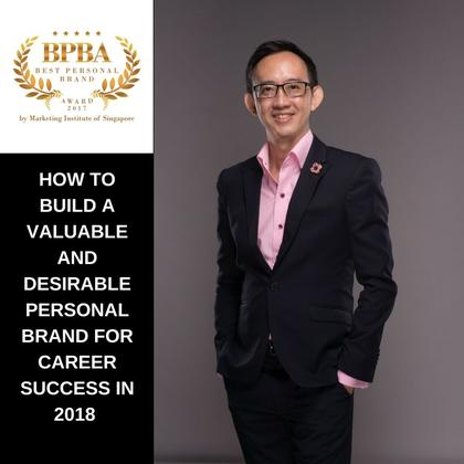 'How To Build A Valuable And Desirable Personal Brand For Career Success in 2018' One-Day Workshop