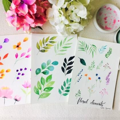 Floral Watercolour x Brush Calligraphy (2-in-1 workshop)