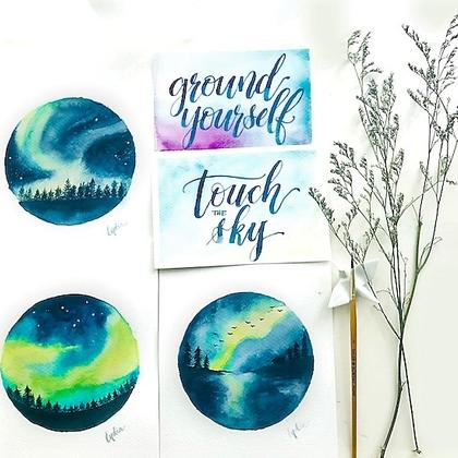 Brush Lettering Calligraphy x Aurora Watercolour  2-in-1 Workshop