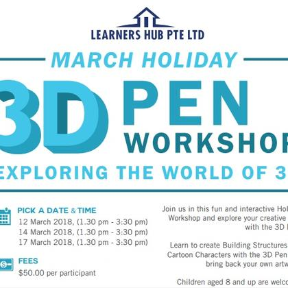 March Holidays 3D Pen Workshop