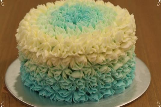Ocean Blue Ombre Cake Cake Baking Classes In Singapore