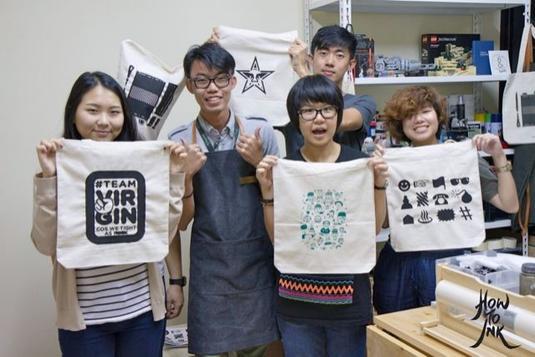 Silkscreen Printing On Tote Bag