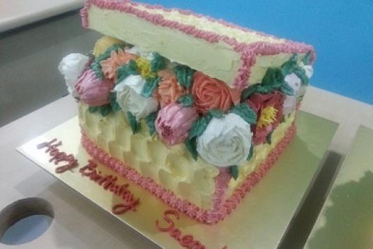 Buttercream Flower Cake Box Class - Cake Baking Classes in ...