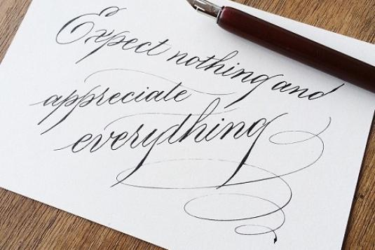 Basic Copperplate Calligraphy Lessons 4 Sessions