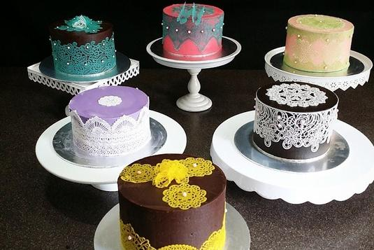 All About Ganache Featuring Edible Lace Cake