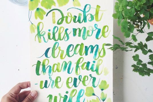 Watercolour brush calligraphy classes in