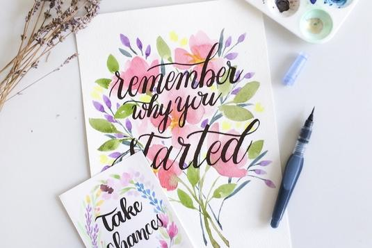 Watercolour Brush Calligraphy Calligraphy Classes In