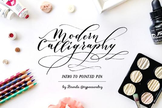 Modern calligraphy intro to pointed pen