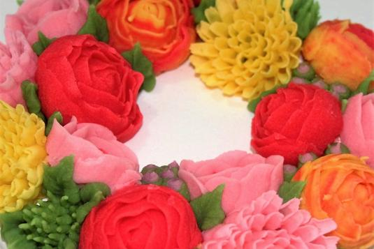 Korean Bean Paste Flower Decoration Cake Decorating