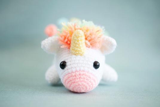 Ravelry: Phat the Rainbow Unicorn Amigurumi pattern by Tiny Rabbit ... | 357x535