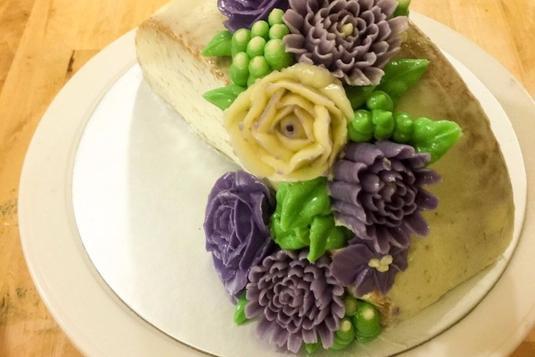 Korean Buttercream Flower cake Workshop - Basic - Cake ...