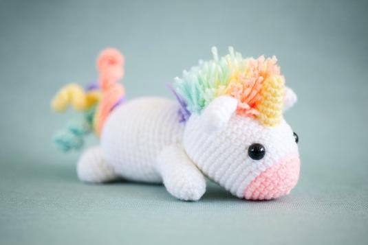 Rainbow Cuddles Crochet Unicorn Pattern - One Dog Woof | 357x535