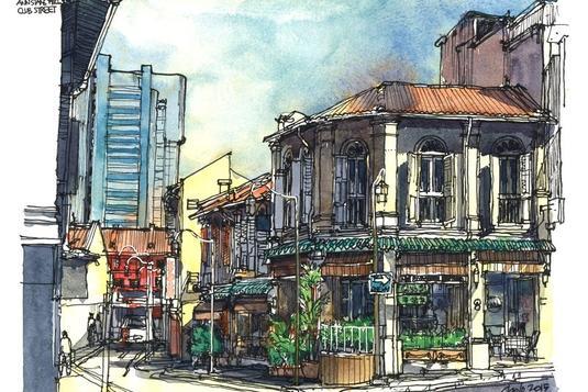 Urban Landscape Painting