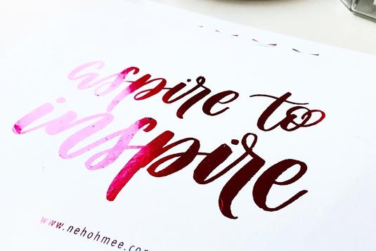 Foiling watercolour brush calligraphy calligraphy classes in