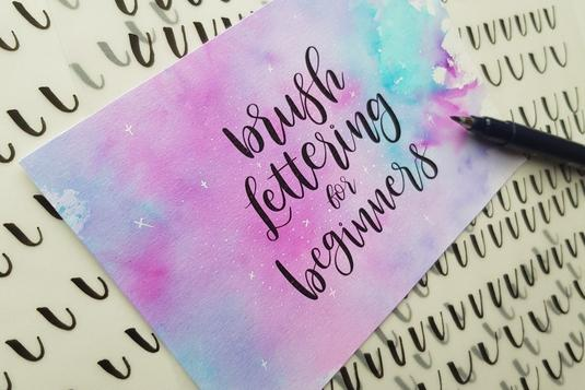 Brush lettering for beginners calligraphy classes in