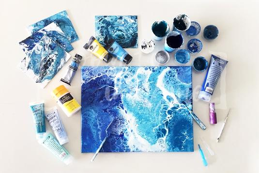 Create Stunning Abstract Art With Acrylic Pour Painting