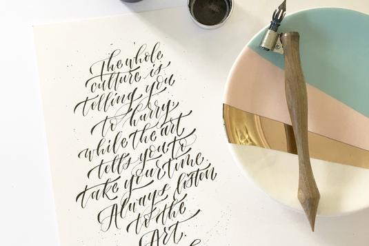 Modern calligraphy pointed pen basics