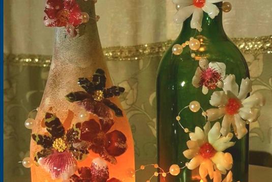 Cut Bottle Sospeso Tealight Holder Craft Classes In