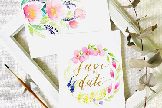1c81b6bd6fb Learn 2 skills in 1 workshop  Floral Watercolour x Brush Calligraphy ...