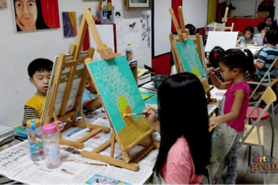 leisure painting workshop for kids ages 4 to 12 art