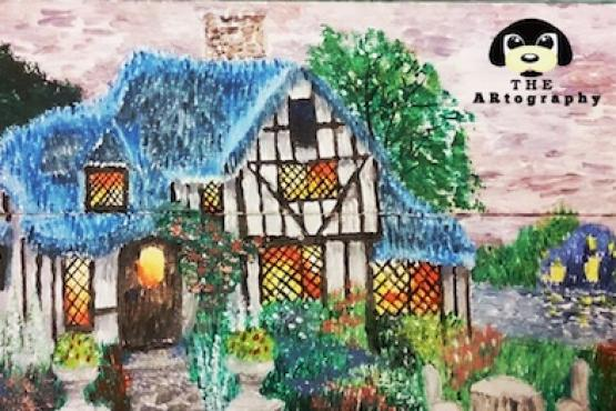 canvas painting for kids dream house ages 5 to 14 painting rh lessonsgowhere com sg
