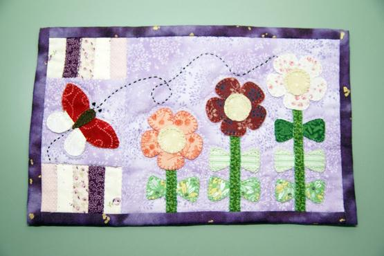 Flowers Mug Rug Workshop