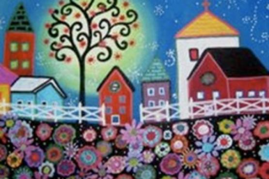 Mexican Christmas Folk Art Painting Art Classes For