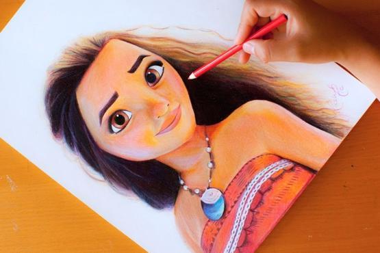 Moana Cartoon Illustration Art Classes For Kids In