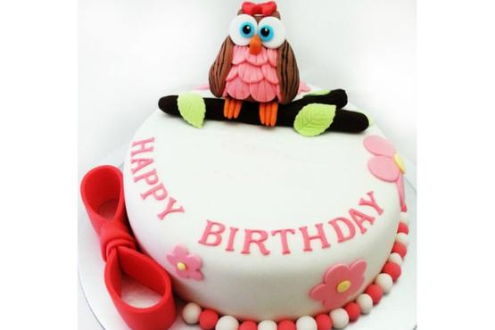 Fondant Owl Cake Decoration