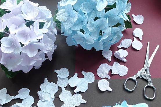 Crepe Paper Hydrangeas Craft Classes In Singapore